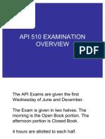 API 510 Examination Overview