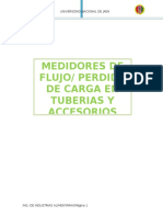 Medidores de Flujo_perdida de Carga en Tuberias y Accesorios