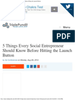 5 Things Every Social Entrepreneur Should Know Before Hitting the Launch But