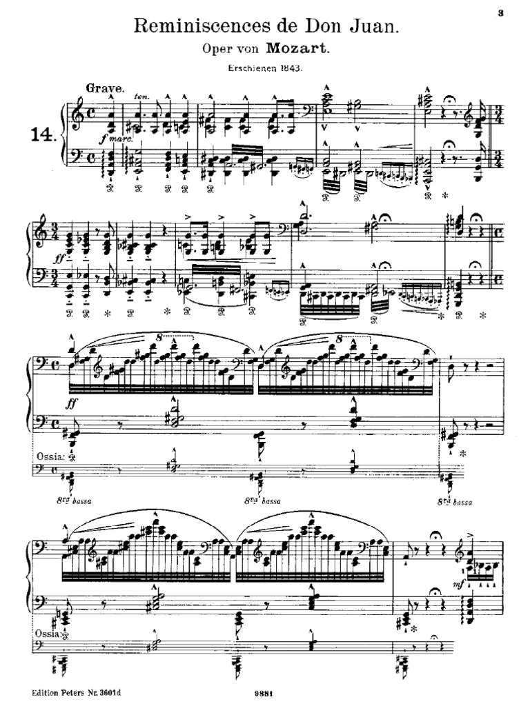 Liszt - Mozart - Réminiscences de Don Juan