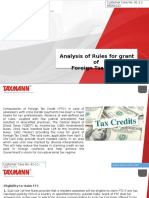 Analysis of Rules for Grant of Foreign Tax Credit