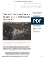 Data 'Vhiz' Geoff McGhee and Bill Lane Center Analyze Rural Newspapers _ JSK