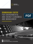 Birmingham Centre for Environmental and Energy Economics and Management