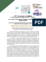 40e Anniversaire EHESS Le Rural en Question_24 Septembre 2015