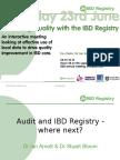 IBD Audit & Registry - Where Next