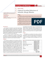 Clinical Circadian Behaviour of Infantile Allergic Rhinitis