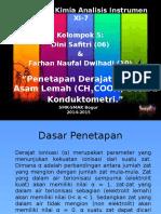Presentasi Akhir Dini-WD (Pen. Derajat Ionisasi Asam Lemah Dengan Konduktometeer)