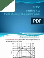 Lecture 17 Pump System Curve