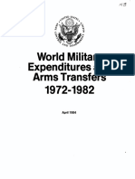 World Military Expenditures and Arms Transfers 1972-1982