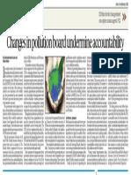 Changes in pollution board undermine accountability