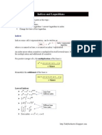 Indices and Logarithms