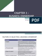 Note Pb201 Entrepreneurship Chapter3