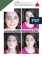 Brincando de Maquiadora com a Filha Luana