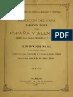 CONDE DE CASA VALENCIA (1888) La mediación del Papa León XIII en la Carolinas.pdf