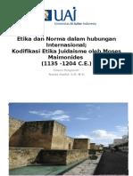 UAI Etika Dan Norma Dalam HI 4 - Filsafat Judaisme (Maimonides)