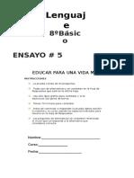 Ensayo 5 LENG 8º