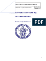 Documento AQ Di Ateneo Per CdS