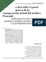 Artículo El Problema de Saber en Vigilar y Castigar de Michel Foucault ( Iván Dalmau, Barda, 2016)