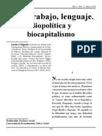 Chignola - Vida, Trabajo, Lenguaje. Biopolítica y Biocapitalismo