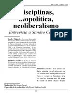Chignola - Entrevista Sobre Disciplinas, Biopolítica y Neoliberalismo