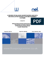 A Review of Balance Uncertainities and Data Reconciliation Within Flow Measurement Systems