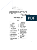 Public Audit Act-2001