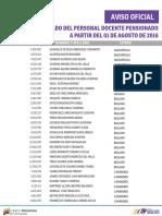Listado Docente Pensionado - Agosto 2016 - Notilogía