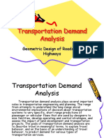 Transportation Demand Analysis
