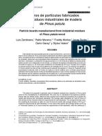1. Tableros de Partículas Fabricados Con Residuos Industriales de Madera de Pinus Patula
