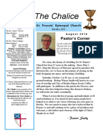 St. Francis' Episcopal Church - Chalice Newsletter August 2016