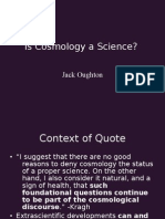 Jack Oughton - Is Cosmology a Science?