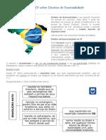 Decisão Recente Do STF Sobre Direitos de Nacionalidade - 2016