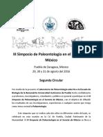 Circular III Simposio Paleontología