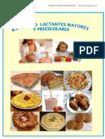 Recetario Nutriyachay Lactantes Mayores Pre Escolares