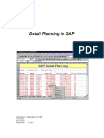 Instruction for Detailed Planning (Sap-plan)