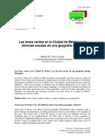 Las áreas verdes en la Ciudad de México. Las diversas escalas de una geografía urbana