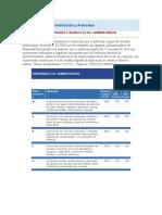 Honorarios de Administración y Aranceles PRIMER SEMESTRE 2016