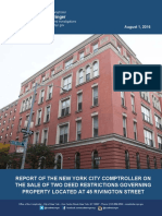 City Comptroller Scott Stringer report on the sale of the Rivington