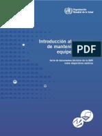 OMS Introducción Al Programa de Mantenimiento de Equipos Médicos