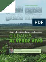 """artículo """"Ciudades al verde vivo"""", por Claudio Bertonatti, publicado en la Rev. Naturaleza & Conservación N° 42, 2015, Aves Argentinas."""