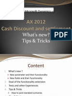 AX 2012 Cash Discount and Settlements - Tips and Tricks