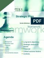 Sample Strategic Plan Presentation - Including Strategic Analysis Choice