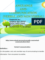 Comparison Verbal and Non Verbal