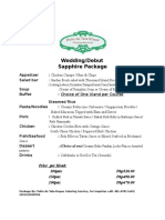 Club Punta Fuego Wedding Package 2016 2018 6 Salad Food