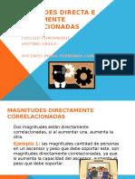 Diapositivas Magnitudes Directa e Inversamente Correlacionadas
