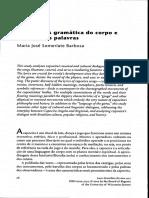 A Gramatica Do Corpo e a Dança Das Palavras