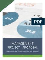 Management Project Proposal - Kartik Mehta - 15A2HP441