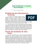 Movimentos Verticais e a Teoria Da Isostasia - UFRGS