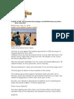 Sudan Army Battles Darfur Rebels May 19