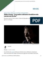 """Misha Glenny_ """"Os Grandes Traficantes Brasileiros Não Moram Nas Favelas"""" _ Brasil _ EL PAÍS Brasil"""